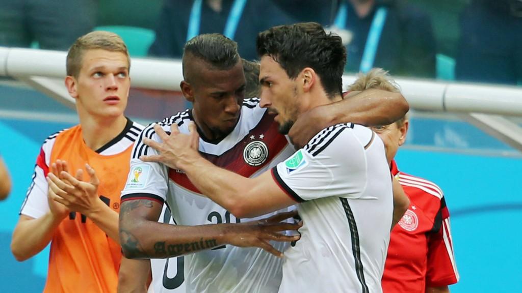 Injured against Portugal: the defender Jerome Boateng and Mats Hummels