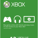 12 Month Xbox Live Gold Membership $41.99